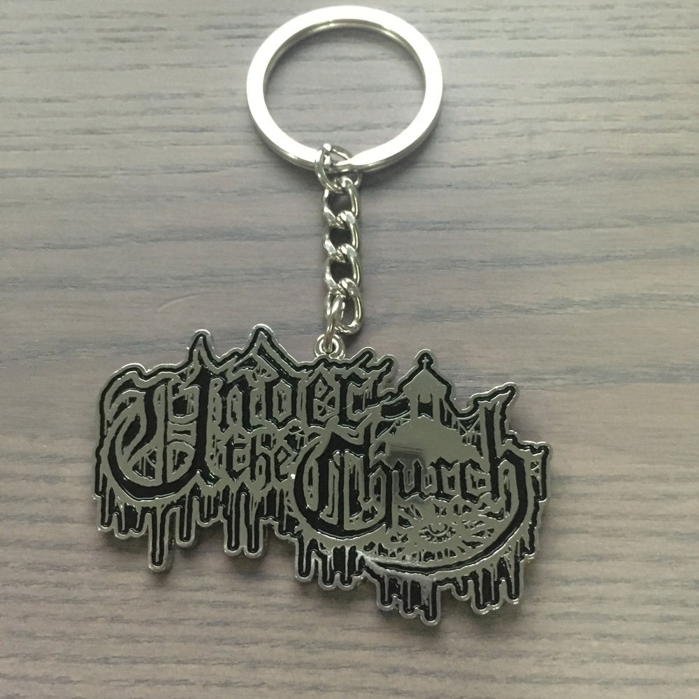 Image of UNDER THE CHURCH Metal Keychain