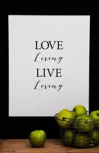 Image of Plakat: Love Living, Live Loving