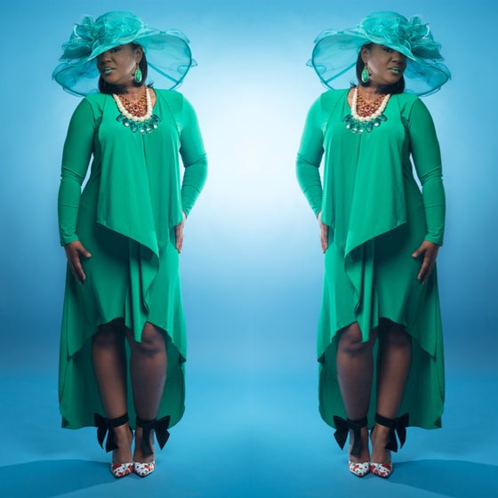 Image of Green with Envy Hi Lo dress