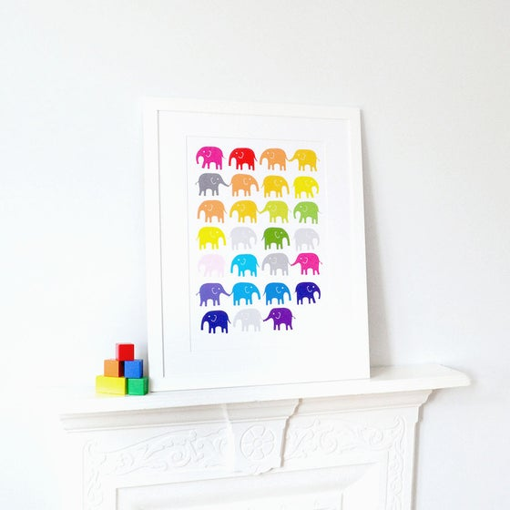 Image of Rainbow Elephants