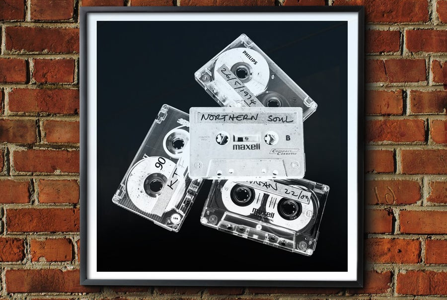 Image of 'Retro Northern Cassettes' Framed Print