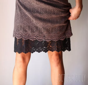 Image of FULL SLIP Lace Dress Extender, S-3XL *Style 1*