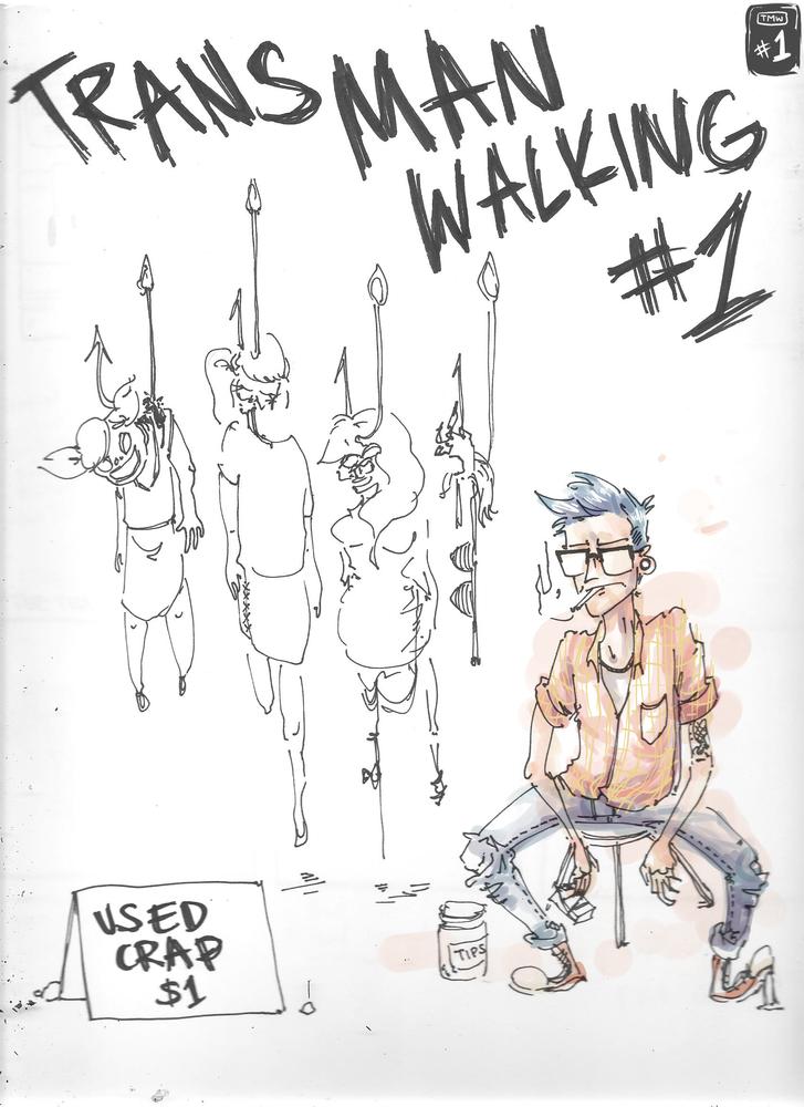 Image of Trans Man Walking #1