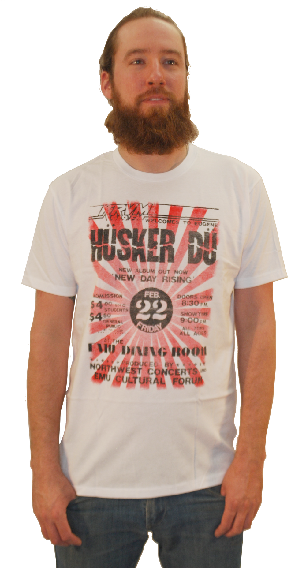 Image of HÜSKER DÜ: EUGENE FLYER NDR TOUR T-SHIRT