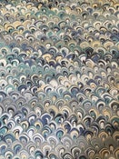 Image of Pattern #5 'sea shells' Marbled Paper