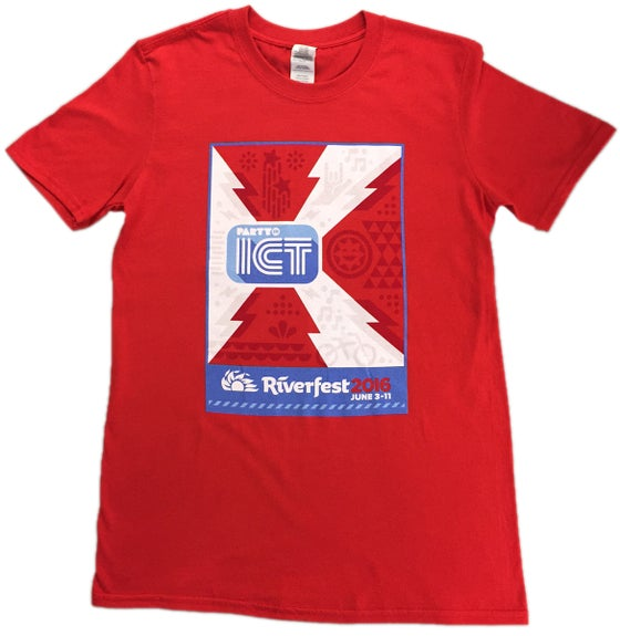 Image of FLASH SALE!  Riverfest 2016 Official T-Shirt in Red
