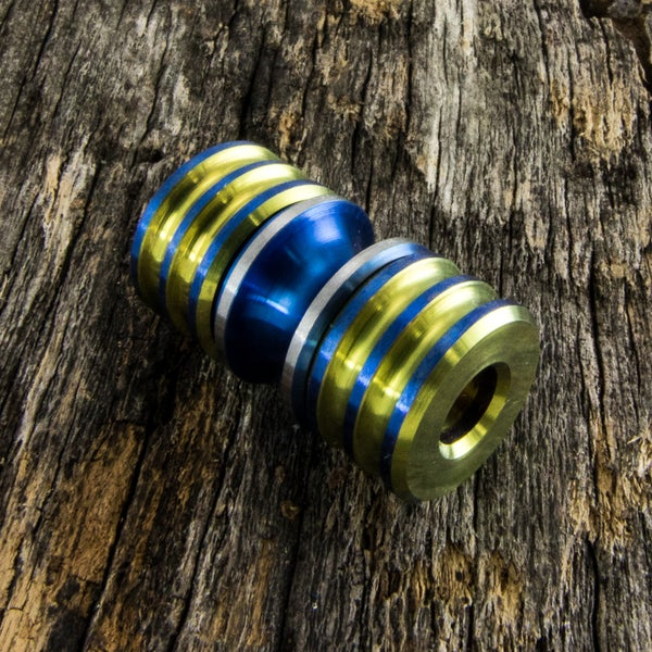 Image of Electric Blue & Yellow Triple Bead Set #1
