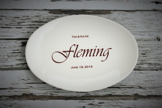 Image of Custom Oval Anniversary/Wedding Platter