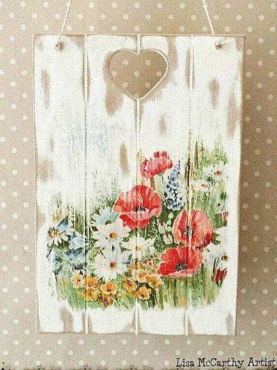 Artelisa victorian boutique wooden wall plaque french for Victorian garden walls designs