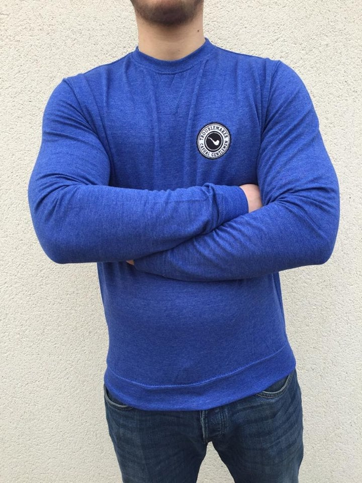 "Image of Sweatshirt ""Hamilton"" Bleu Chiné"