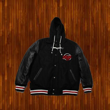 Image of  BLACK AND RED VARSITY JACKET