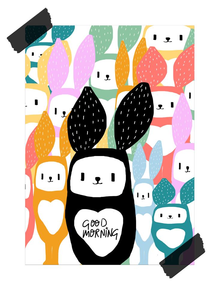Image of Lámina Good morning Bunnies