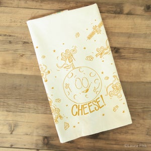 Image of Moon Cheese Tea Towel