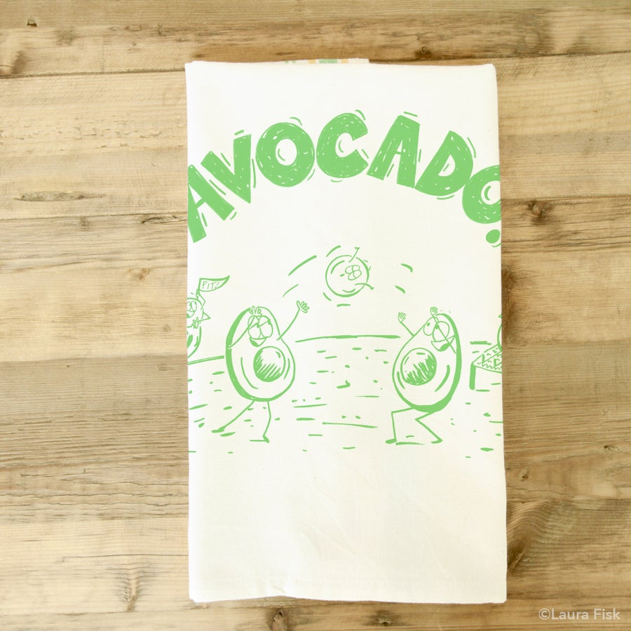 Image of Avocado Tea towel