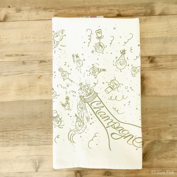 Image of Champagne Tea Towel