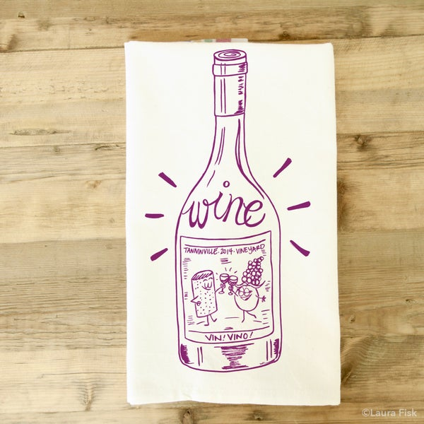 Image of Wine tea towel