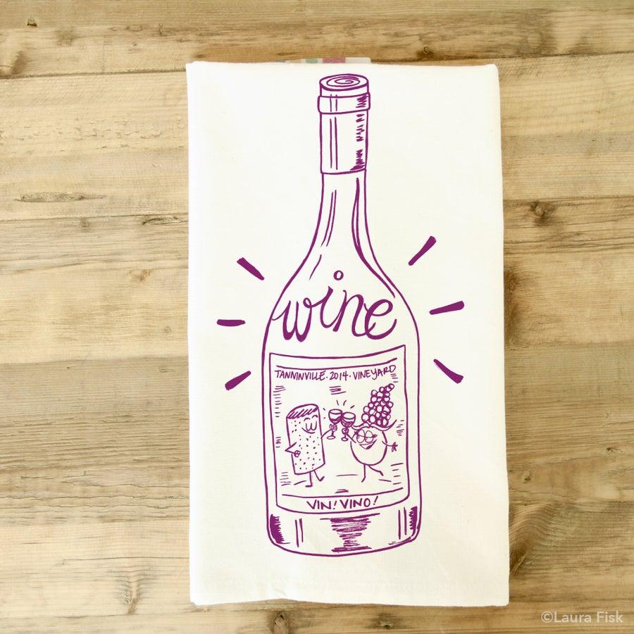 Image of Wine tea towel
