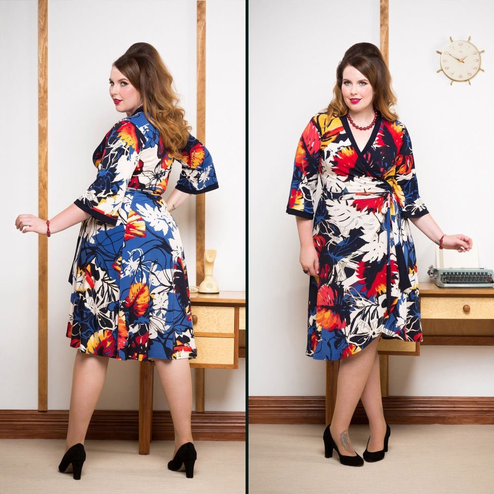 Image of MISS MONEYPENNY WRAP DRESS