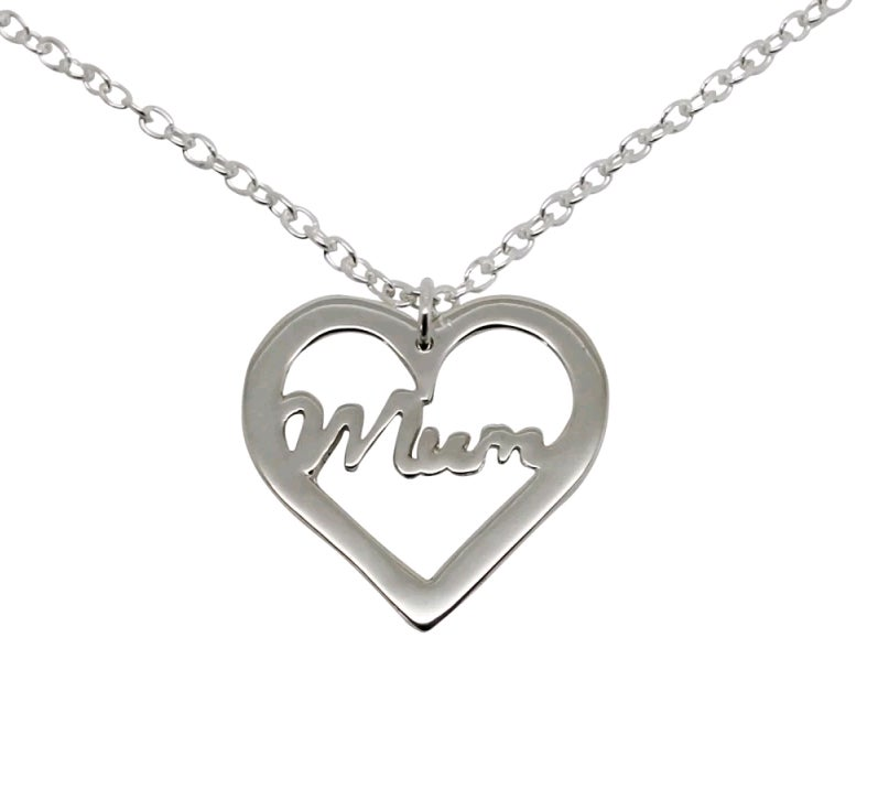 Image of Mum Heart Necklace - Sterling Silver