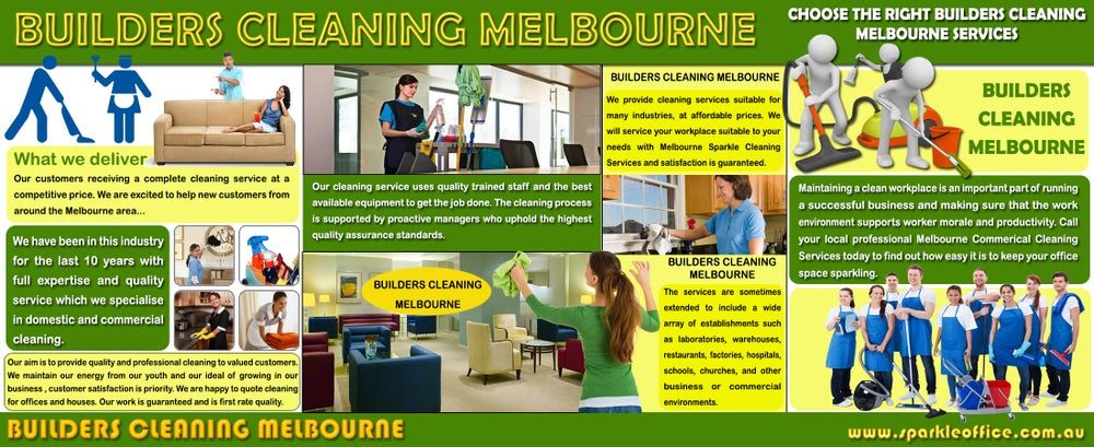 Image of  builders cleaning melbourne