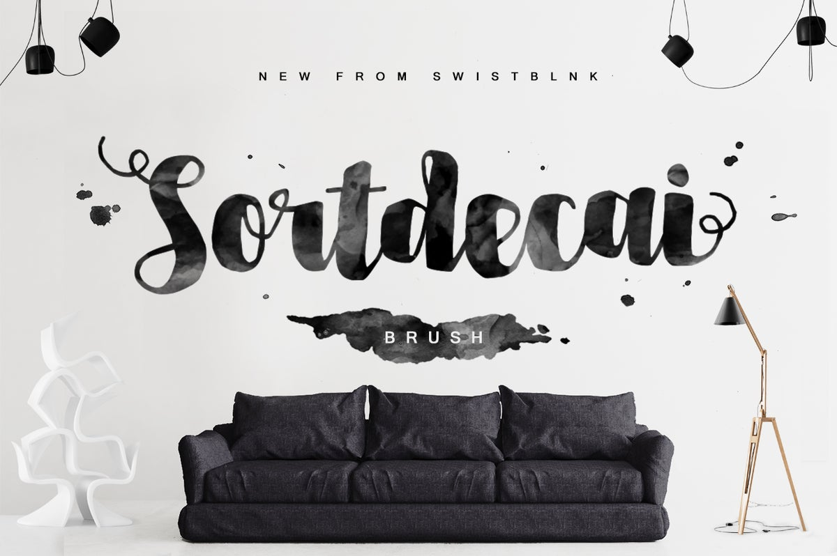 Image of Sortdecai Brush Script