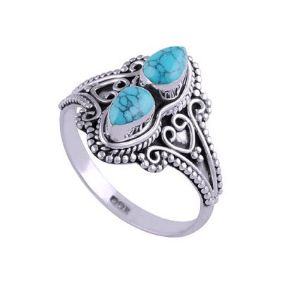Image of Sterling Silver & Turquoise Orion Ring