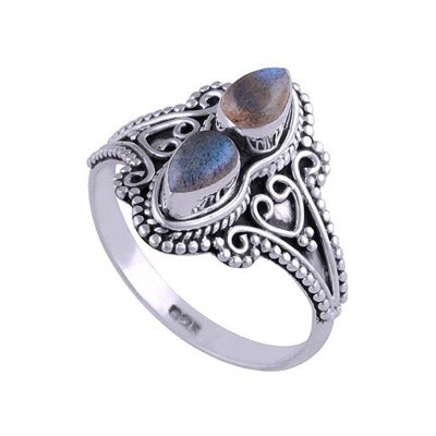 Image of Sterling Silver & Labradorite Orion Ring