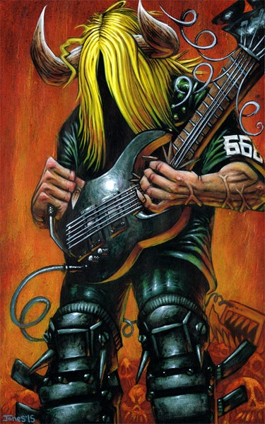 Image of 'Jeff Hanneman in Hell' Art Print