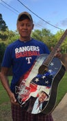 Image of American Flag/Pledge Autographed Guitar