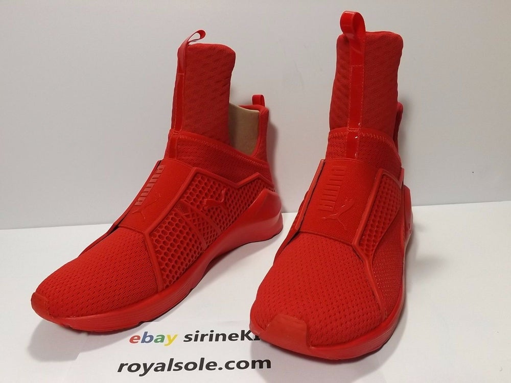 Image of Rihanna Women Puma Fenty Red Alert High Risk Authentic 189695-03 S