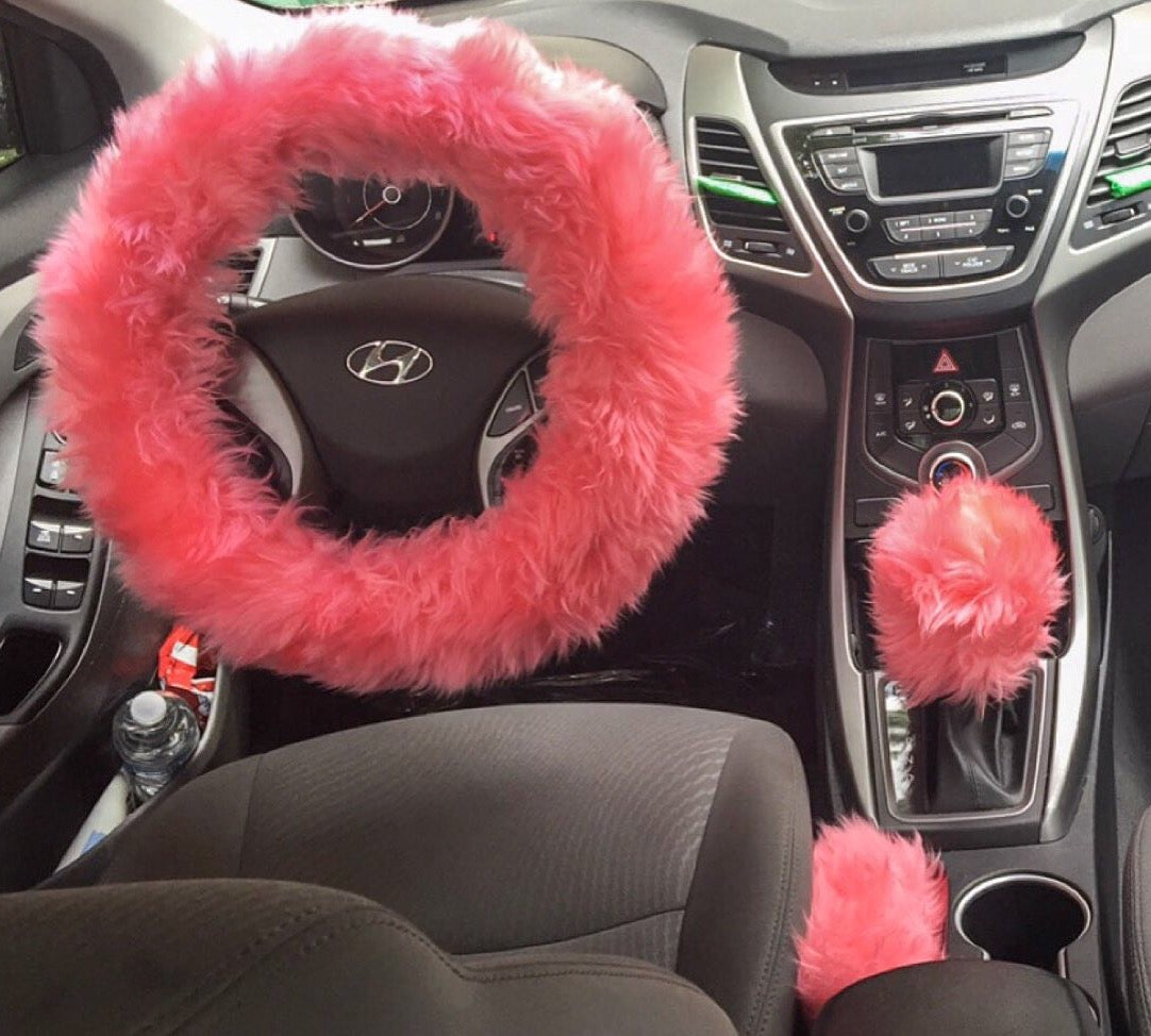 Spoiled Accessories — Fur Lit Fluffy Steering Wheel Covers 3pcs