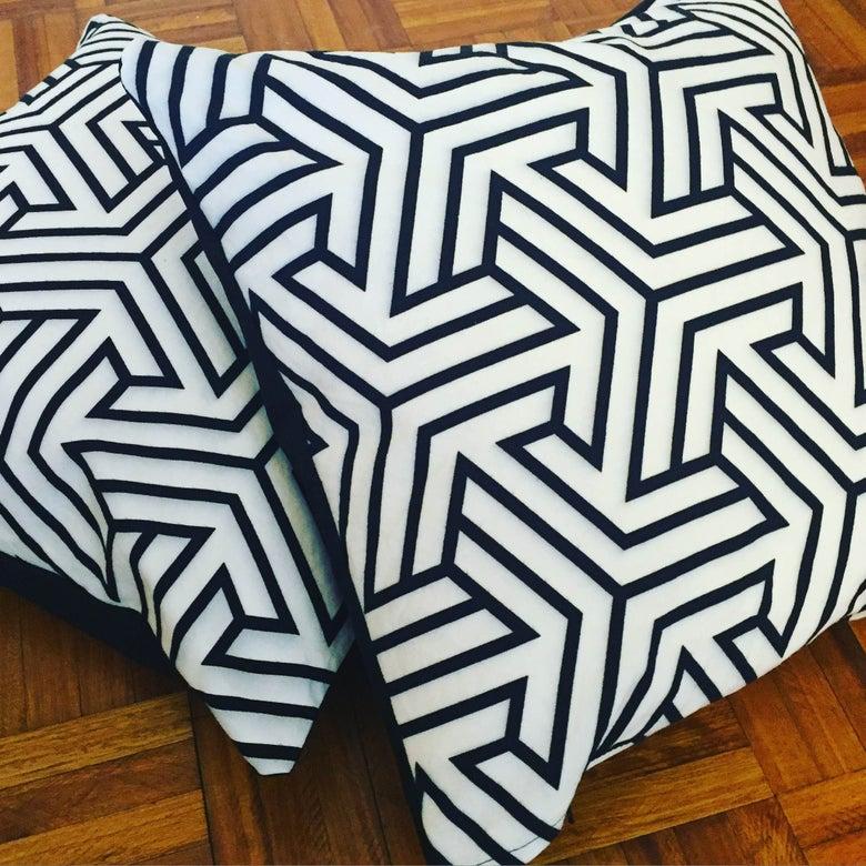 Image of Geometric Printed handmade cushion covers
