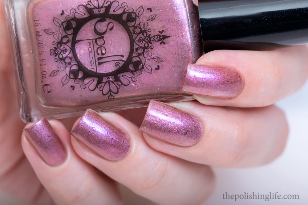 "Image of ~Pettifogger~ plum chrome w/multichrome flakes Spell nail polish ""Revenge of the Duds""!"