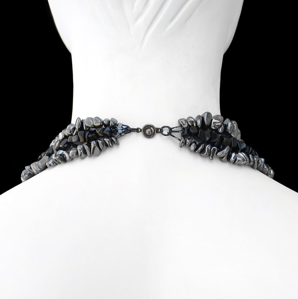 Image of Black and Gunmetal Rock Convertible Bracelet/Necklace