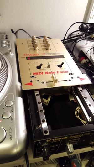 Image of Custom MIDI Note Fader Vestax PMC 06 gold