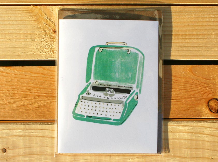 Image of Retro Typewriter Greeting Card