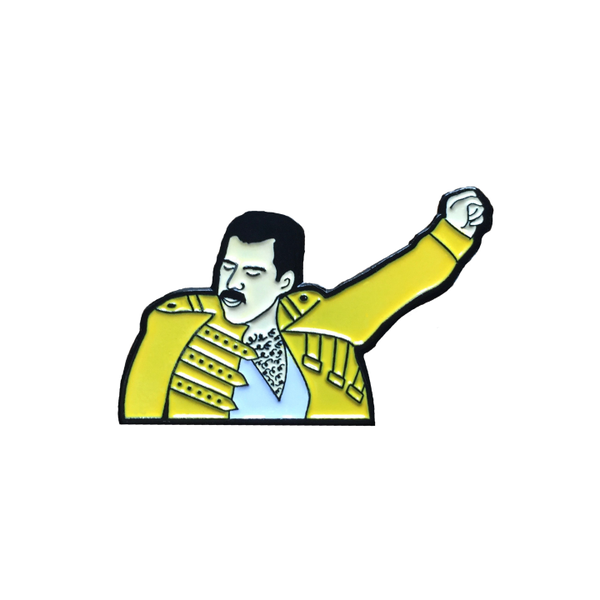 Image of Freddie Mercury enamel pin
