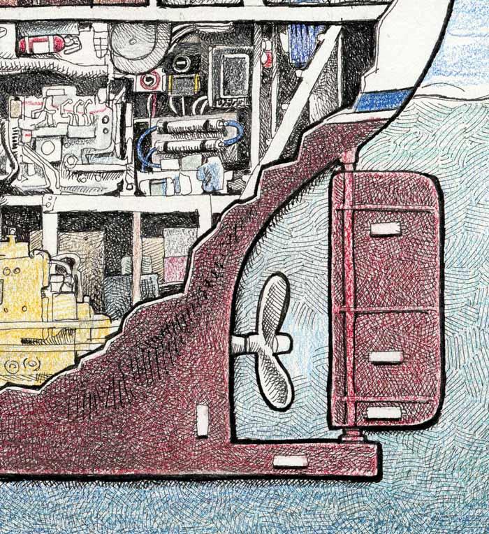 Image of M/V Ursa Major Cutaway