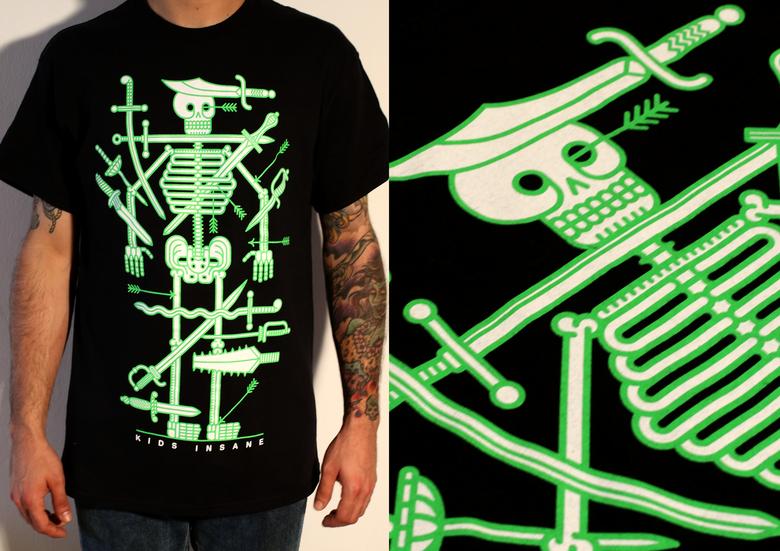 Image of 'Skeleton' Black T shirt