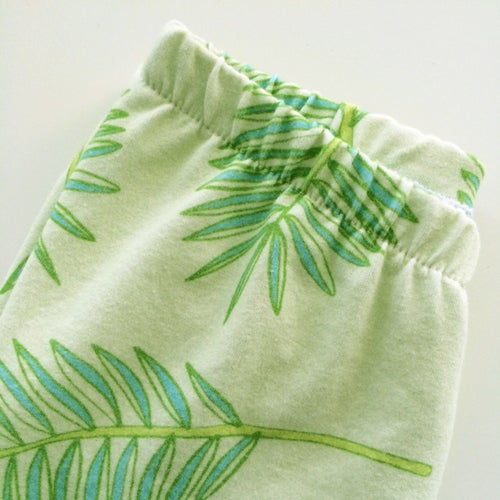 Image of Palm Frond Organic Leggings (Sage)