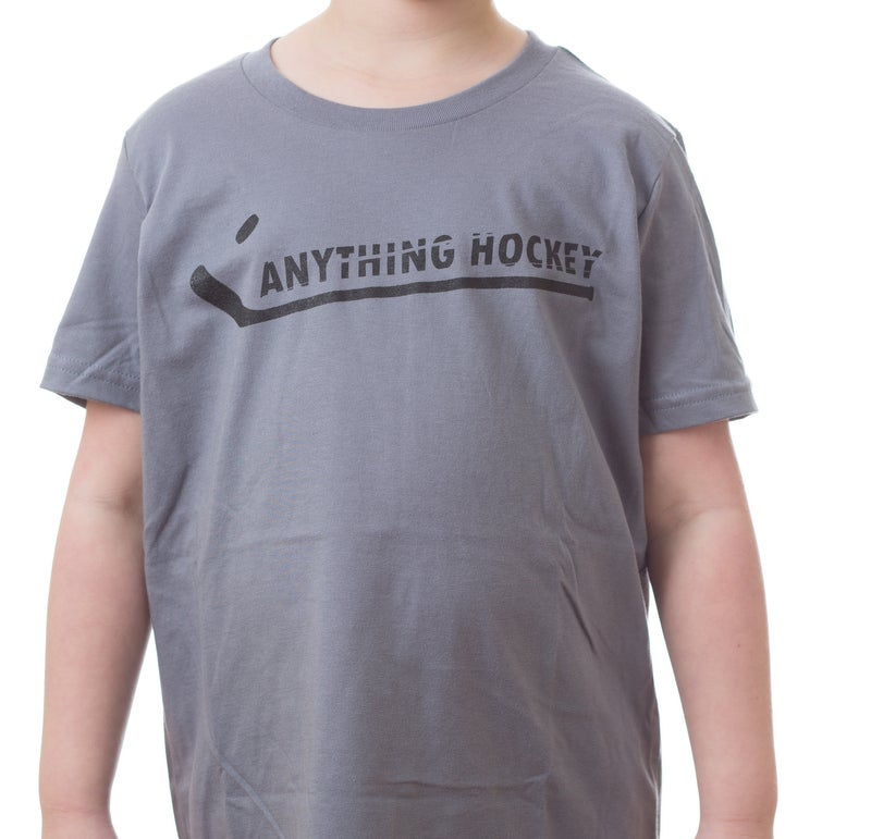 Image of Anything Hockey Logo T-shirt - Slate (grey)