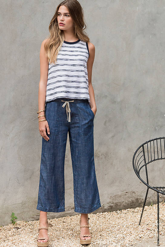 Image of Lilla P Chambray Drawstring Pants