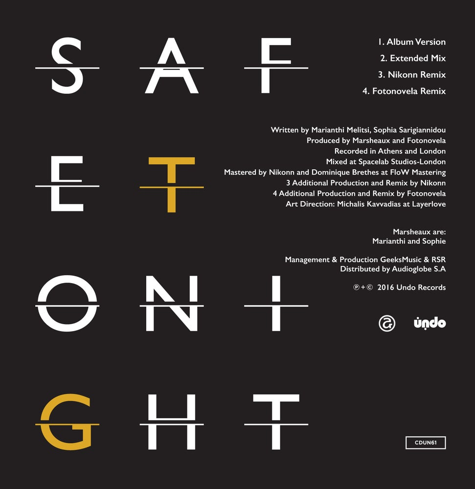 Image of CDUN61 MARSHEAUX:             Safe Tonight CD Single