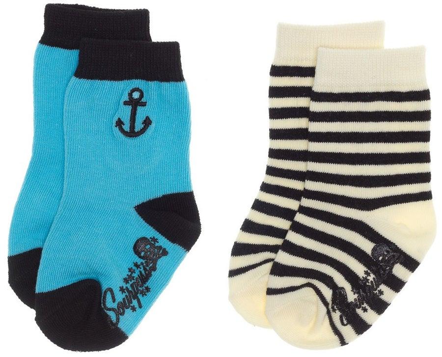 Image of Kid's Anchor Stripe Sock Set