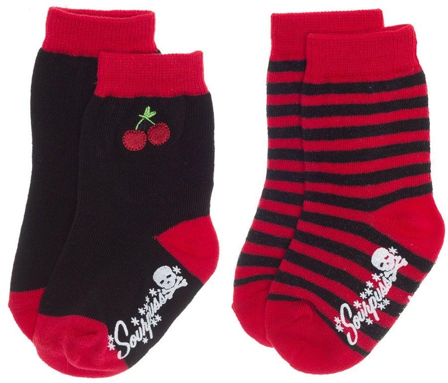 Image of Cherries Kid's Sock Set