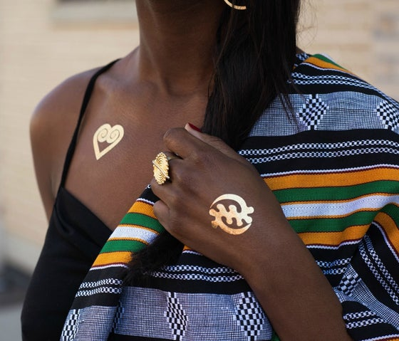 Image of Africa-inspired Temporary Tattoos