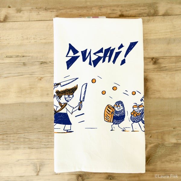 Image of Sushi Tea Towel