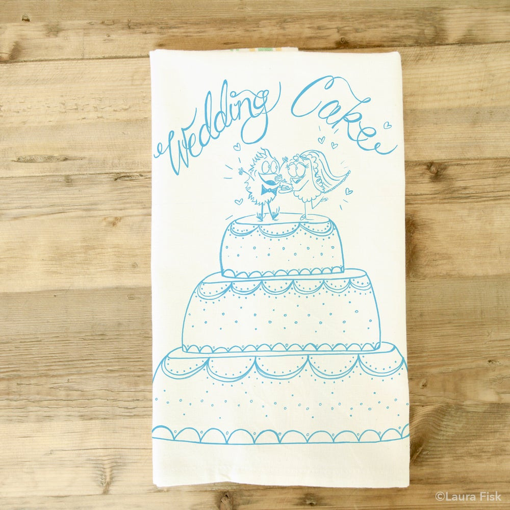 Image of Wedding Cake Tea Towel