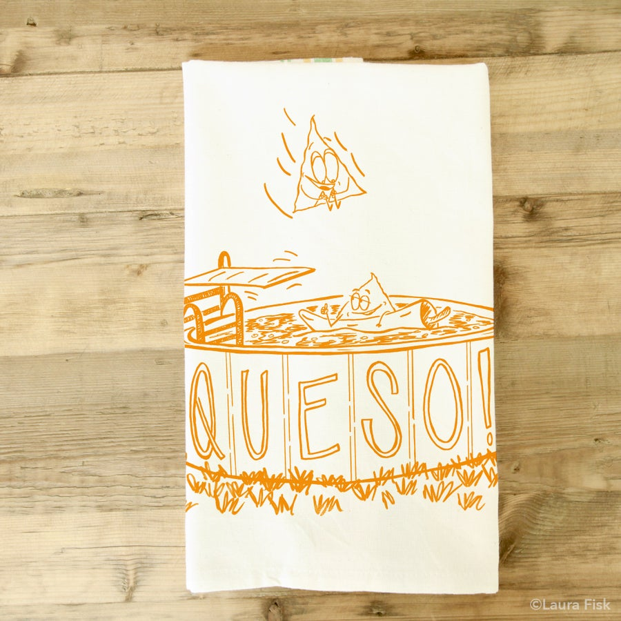 Image of Queso Tea towel
