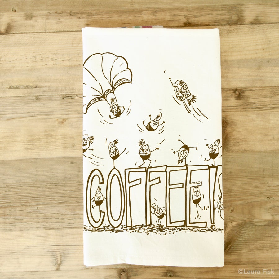 Image of Coffee tea towel